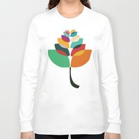 lotus Long Sleeve T-shirts featuring Lotus flower by Picomodi