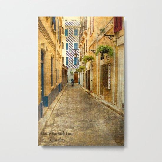 Horse Barrack Lane, Gibraltar Metal Print