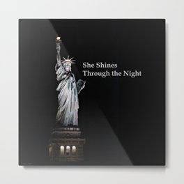 She Shines Through the Night 2 Metal Print