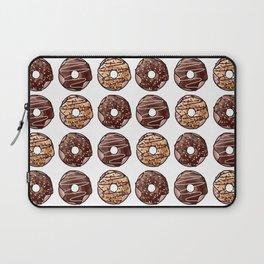 Chocolate Donuts Pattern Laptop Sleeve