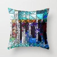 portlandia Throw Pillows featuring :: Portlandia :: by :: GaleStorm Artworks ::