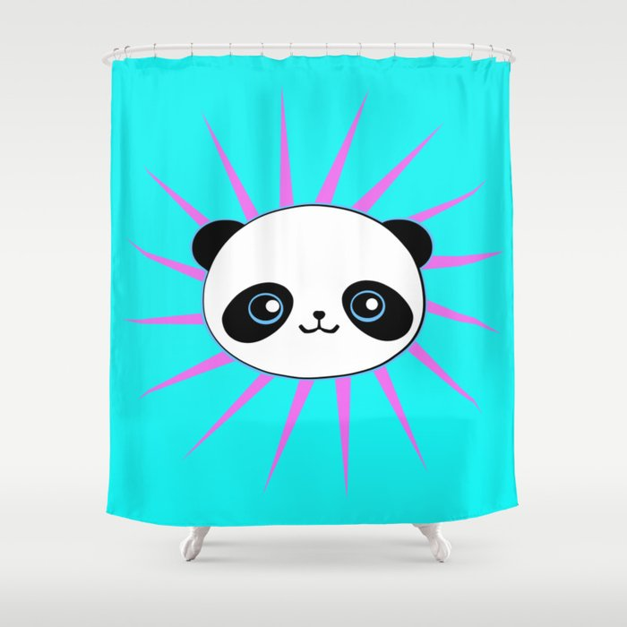 Wild Rockstar Panda Shower Curtain