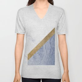 Marble luxe - periwinkle blue Unisex V-Neck