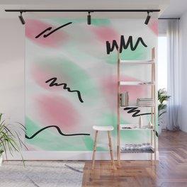 80s pastel leotard Wall Mural