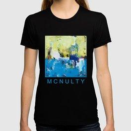 Parakeet Blue Yellow Abstract Art T-shirt