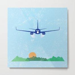 In Flight Landscape Print Metal Print