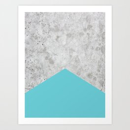 Concrete Arrow - Light Blue #206 Art Print