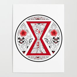 Black Widow Mandala Poster