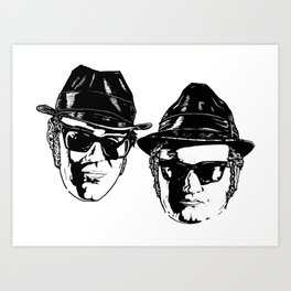 The Blues Brothers - Can You See The Light? Art Print