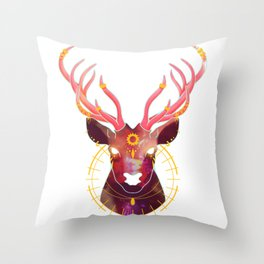 The Sun and the Stag Throw Pillow