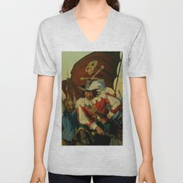 """""""Stand and Deliver"""" Pirate Art by NC Wyeth Unisex V-Neck"""