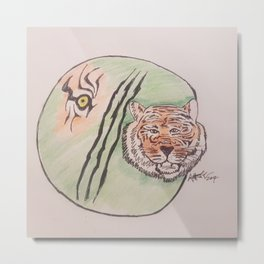 tiger eye Metal Print