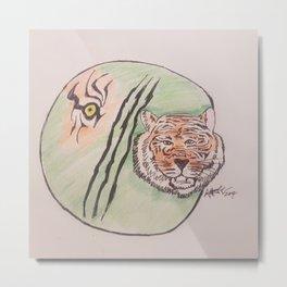 tiger eye Metal Print