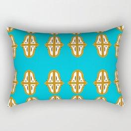 Luxury mandala art Interior design Bluegold Rectangular Pillow