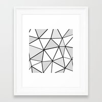 origami Framed Art Prints featuring origami by themicromentalist