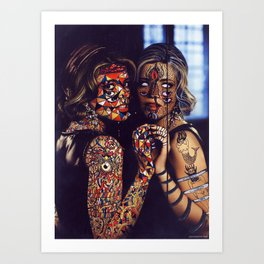Psychoactive Bear 2 Art Print