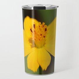 Cosmos Sulphureus named Ladybird Dwarf Lemon Travel Mug