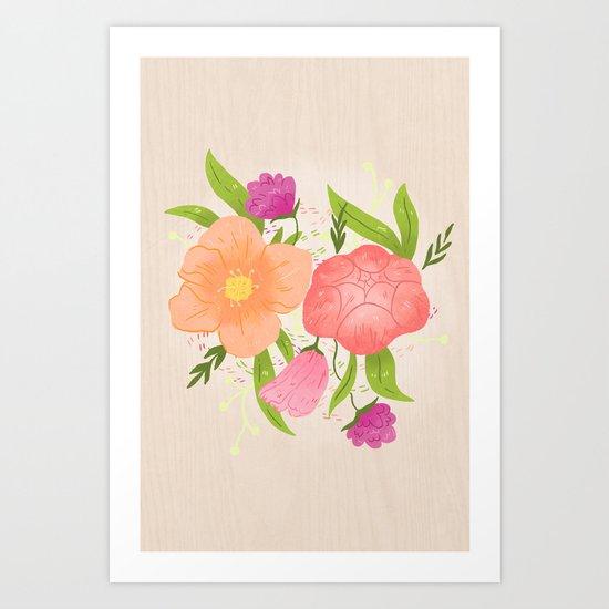 Spring Florals Art Print