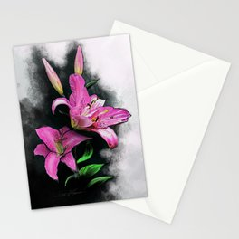 Sweet Lilie growing in the Dark Stationery Cards