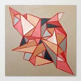 Pink Angles Canvas Print