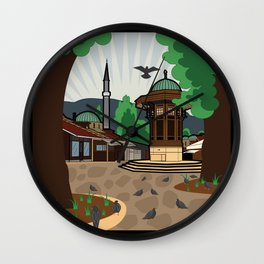 Sarajevo - landscape Wall Clock