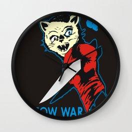 Cat Flag Meow War  Wall Clock