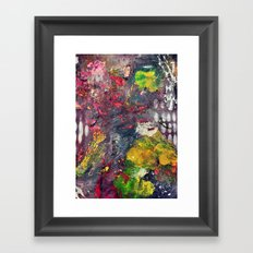 Experimenting with Color Framed Art Print
