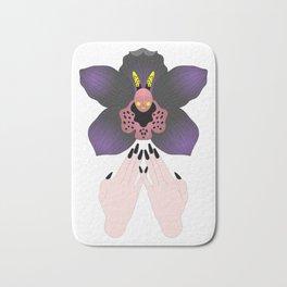 Black Orchid Bath Mat