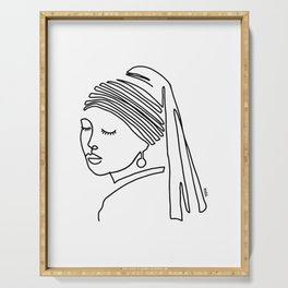 Girl with a pearl earring Serving Tray