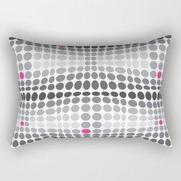 Dottywave - Grey and pink wave dots pattern Rectangular Pillow