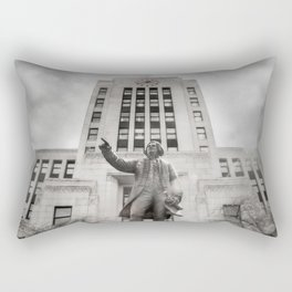 Vancouver RainCity Series - Captain George Vancouver and City Hall, Vancouver, BC Rectangular Pillow