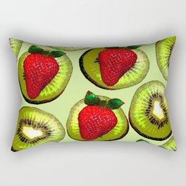 KIWI AND STRAWBERRY COCKTAIL Rectangular Pillow
