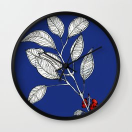 lomboy blue Wall Clock