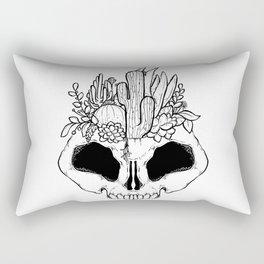 GROW - Succulents in a skull Rectangular Pillow