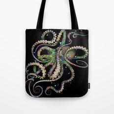 Octopsychedelia (black) Tote Bag
