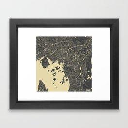 Oslo Map Framed Art Print