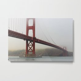 Golden Gate Fog Metal Print
