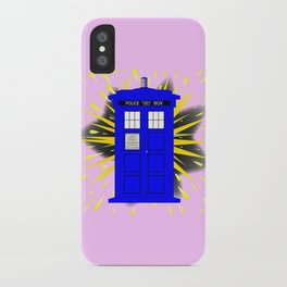 British Police Box With Abstract Explosion iPhone Case
