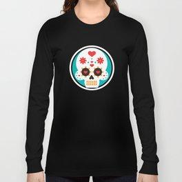 Latin Love Mexican Pride Dias De Los Muertos Cute Heart Smiling Sugar Skull Long Sleeve T-shirt