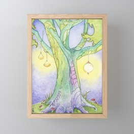 Evening Tree Sprites Framed Mini Art Print