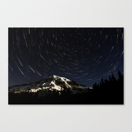 Mount Rainier Star Trails  Canvas Print