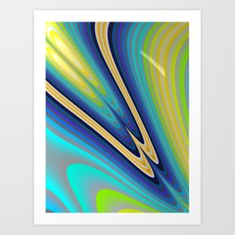 Aurora Borealis Fractal Art Art Print