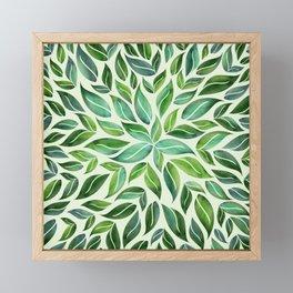 Spring Leaf Mandala Framed Mini Art Print