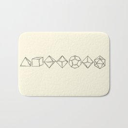 Minimal Dungeons and Dragons Dice Set Bath Mat