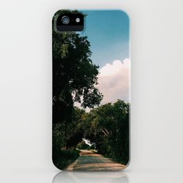 drive way on sun day iPhone Case