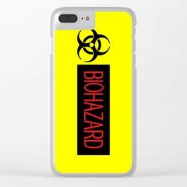 HAZMAT: Biohazard (Red, Black & Yellow) Clear iPhone Case