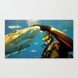 Shark Bite Diving Canvas Print