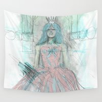 persian Wall Tapestries featuring Persian Red Prima Donna by Bryan Frodente