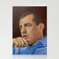 andreas preis Stationery Cards featuring Andreas Antonopoulos by The Colors of Bitcoin: Bitcoin Art