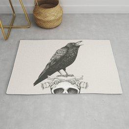 Black Crow & Skull Rug